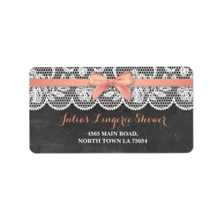 Lingerie Bridal Shower Return Address Label Chalk