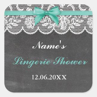 Lingerie Shower Bridal Party Lace Stickers Label