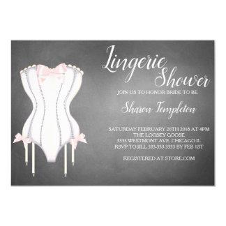 Lingerie shower bridal shower corset invitation