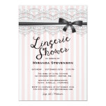 Lingerie Shower Chic Lace Garter Party Invitation