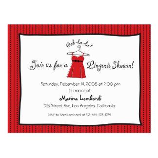 Lingerie Shower Invitation Postcard