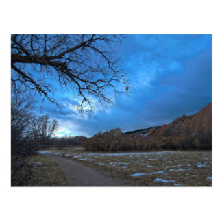 Lingering Winter - Path Roxborough State Park CO Postcard