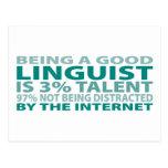 Linguist 3% Talent Post Card