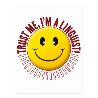Linguist Trust Smiley Postcard
