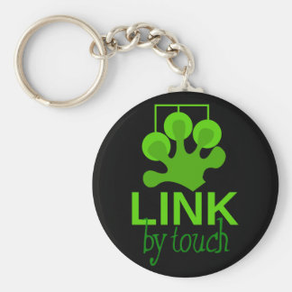 link by touch basic round button keychain