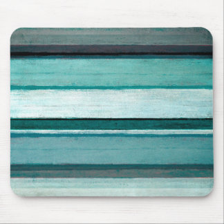 'Link' Teal and Grey Abstract Art Mouse Pad