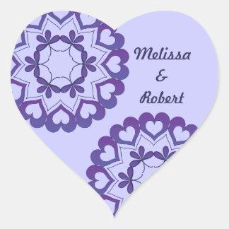 Linked by Love Blue Heart Sticker