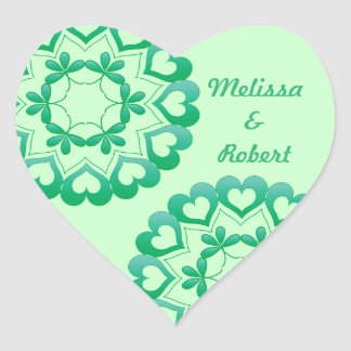 Linked by Love Green Heart Sticker
