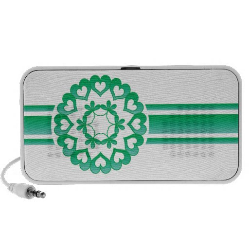 Linked by Love Green Retro Stripe Speaker