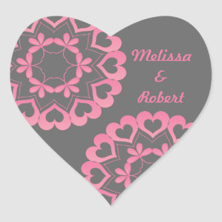 Linked by Love Pink Heart Sticker
