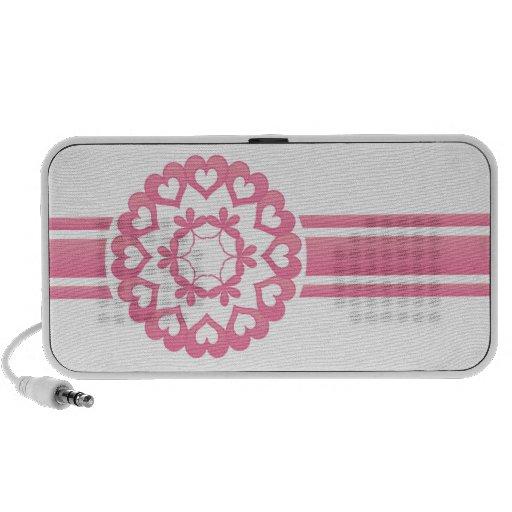 Linked by Love Pink Retro Stripe Speaker