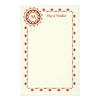 Linked by Love Stationery with Intricate Border