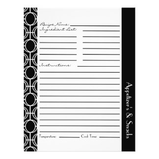 Linked Eternity Rings Recipe Inserts - Black White Flyer