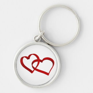 Linked Hearts Keychain