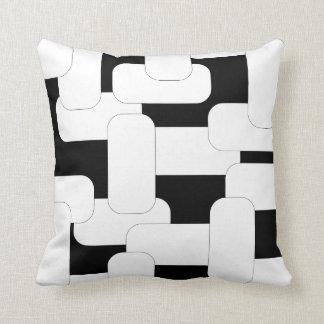 Linked White & Black Throw Pillow