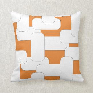 Linked White & Orange Throw Pillow