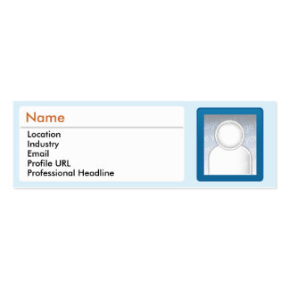 LinkedIn - Skinny Mini Business Card