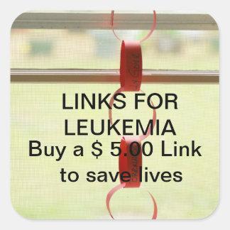 Links for Leukemia Square Sticker