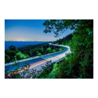linn cove viaduct blue ridge parkway poster