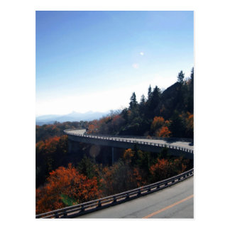 Linn cove viaduct in blue ridge mountains postcard