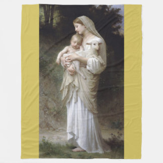 L'Innocence 1893 William - Adolphe Bouguereau Fleece Blanket