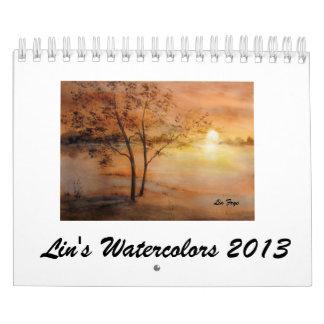 Lin's Watercolors2013 Calendars