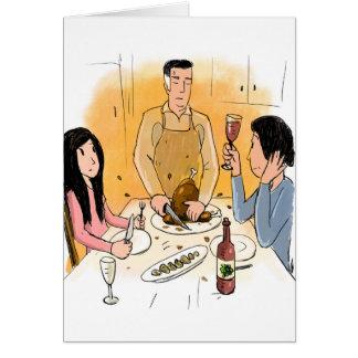 L'insulte parfaite de thanksgiving carte de vœux