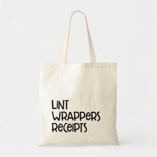 Lint Wrappers Receipts : Tote
