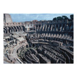 L'intérieur caverneux du Coloss romain antique Faire-part