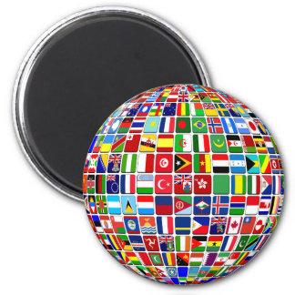 L'International marque l'aimant Magnet Rond 8 Cm