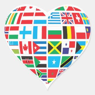 L'International marque l'autocollant en forme de Sticker Cœur