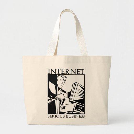 L'Internet est des affaires sérieuses Sacs Fourre-tout
