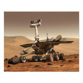 L'interprétation de l'artiste de Mars Rover Impression Photo