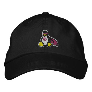 Linux Avenger Penguin Hat Embroidered Hats