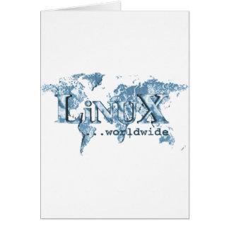 Linux dans le monde entier carte de vœux