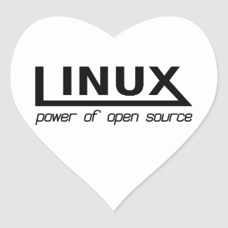 Linux Heart Sticker
