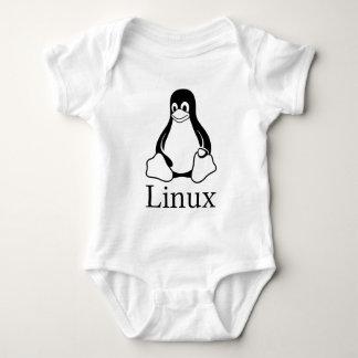 Linux Logo w/ Tux the Linux Penguin Baby Bodysuit