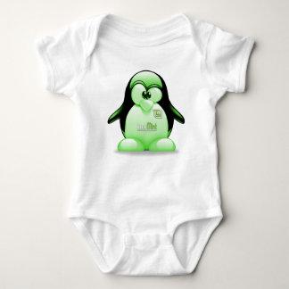 Linux Mint with Tux Logo Baby Bodysuit
