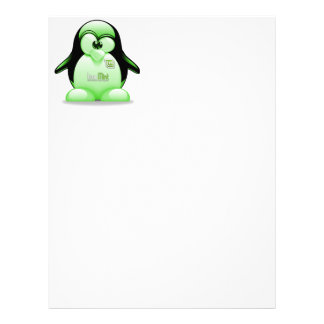 Linux Mint with Tux Logo Customized Letterhead