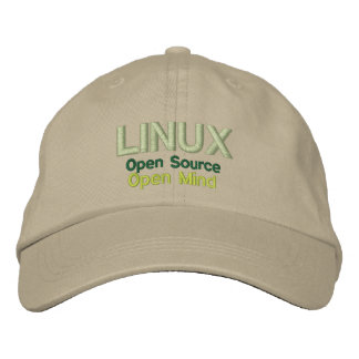 LINUX: Open Source, Open Mind Embroidered Hat