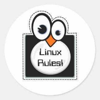 Linux Penguin Frame Custom Text Sticker