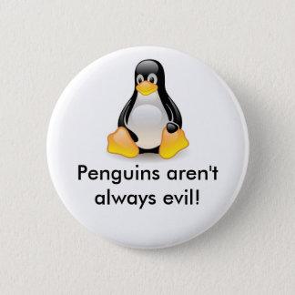 linux-penguin-tux 2 inch round button
