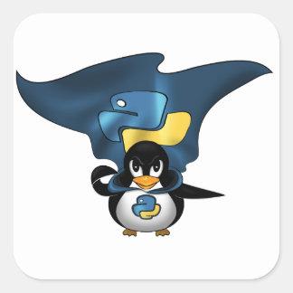 Linux Python Square Sticker