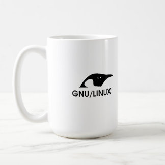 "Linux ""Real men use the command line"" coffee mug"
