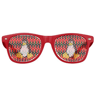 LINUX Red jigsaw Sine Waves Party Shades