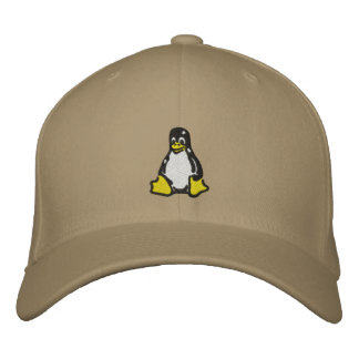 Linux Tux Embroidered Hat