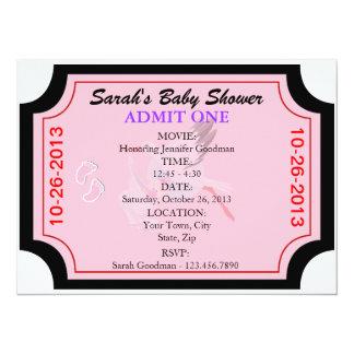 L'invitation de bébé admettent un customisé carton d'invitation  13,97 cm x 19,05 cm