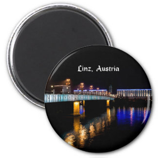Linz, Austria cityscape at night Magnet