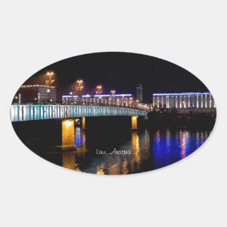 Linz, Austria Oval Sticker