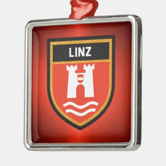 Linz Flag Metal Ornament